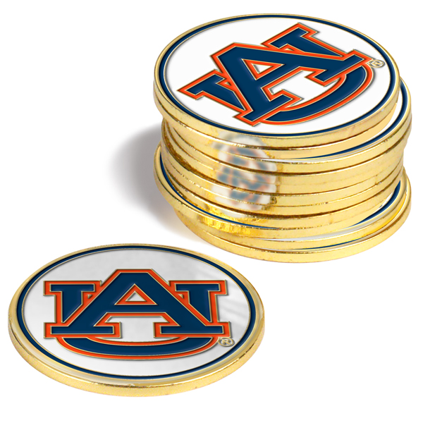 Auburn Tigers-12 Pack Ball Markers