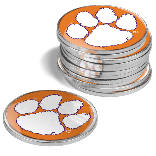 Clemson Tigers-12 Pack Ball Markers