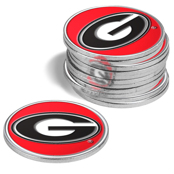 Georgia Bulldogs-12 Pack Ball Markers