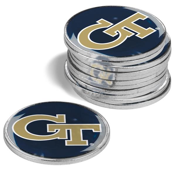 Georgia Tech Yellow Jackets-12 Pack Ball Markers