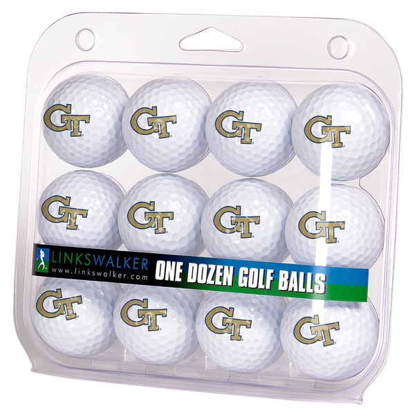 Georgia Tech Yellow Jackets-Dozen Golf Balls