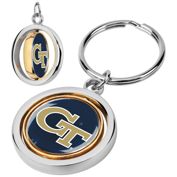 Georgia Tech Yellow Jackets-Spinner Key Chain