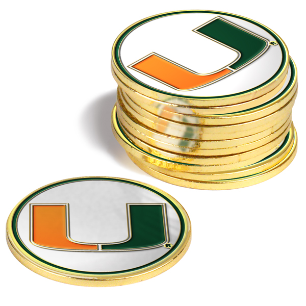 Miami Hurricanes-12 Pack Ball Markers