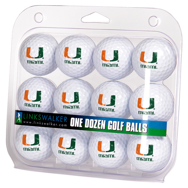 Miami Hurricanes-Dozen Golf Balls