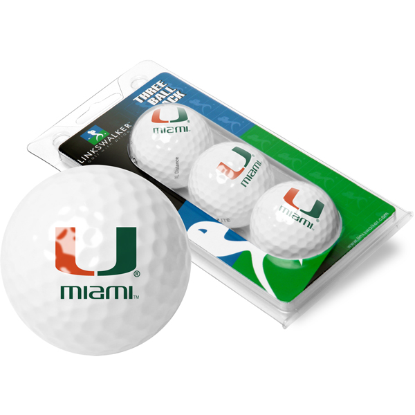 Miami Hurricanes-3 Golf Ball Sleeve