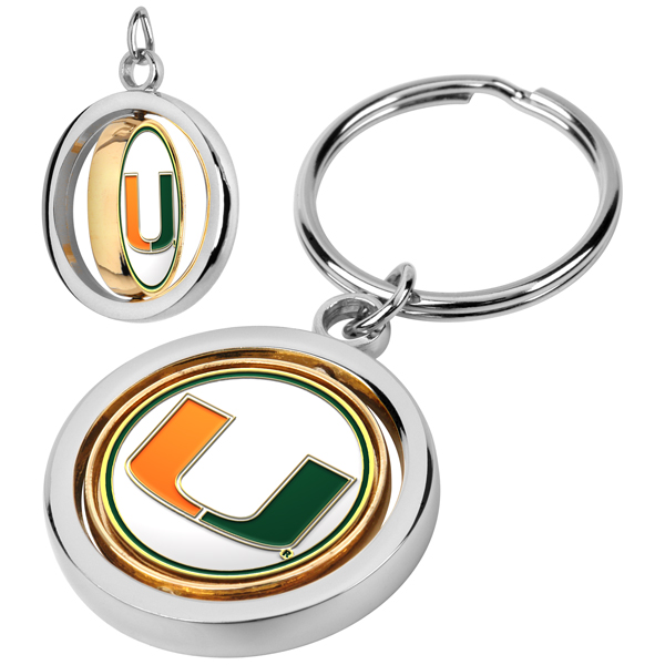 Miami Hurricanes-Spinner Key Chain