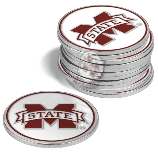 Mississippi State Bulldogs-12 Pack Ball Markers