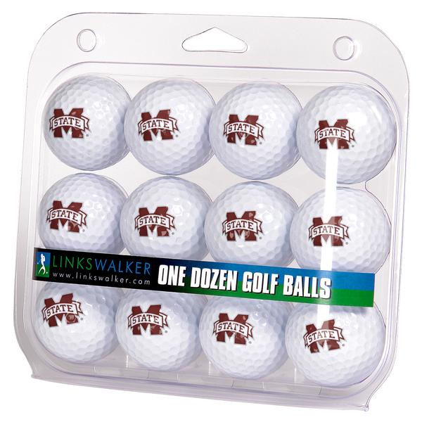Mississippi State Bulldogs-Dozen Golf Balls