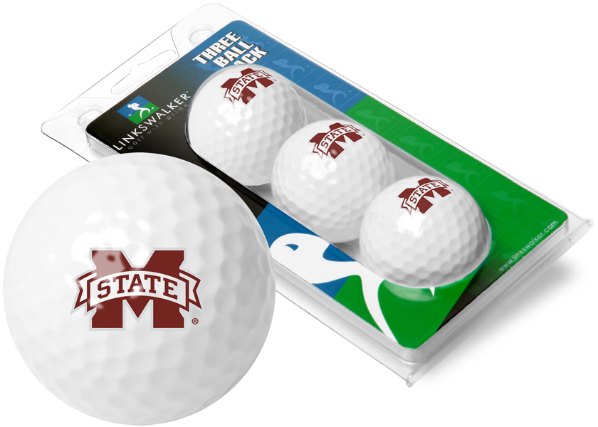 Mississippi State Bulldogs-3 Golf Ball Sleeve