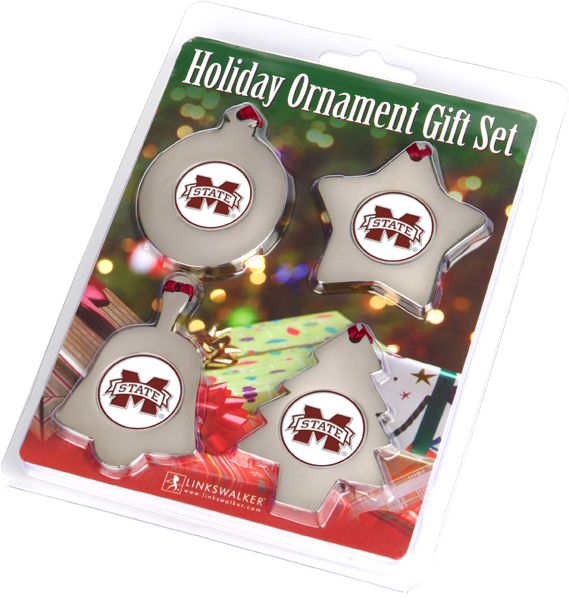 Mississippi State Bulldogs-Ornament Gift Pack