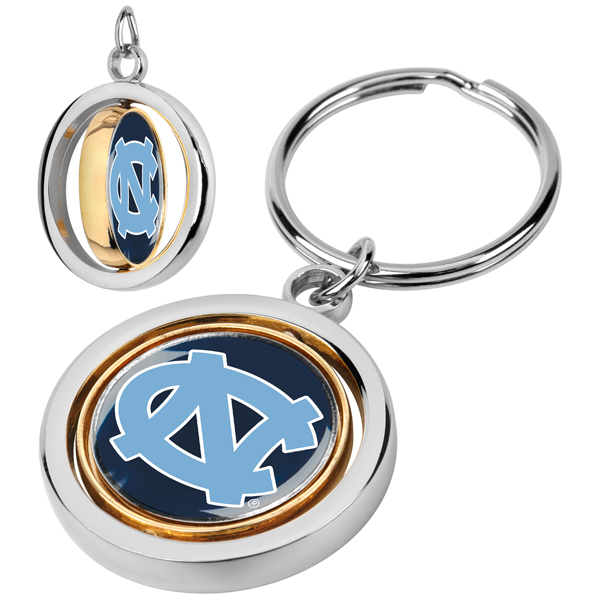 North Carolina - University Of-Spinner Key Chain