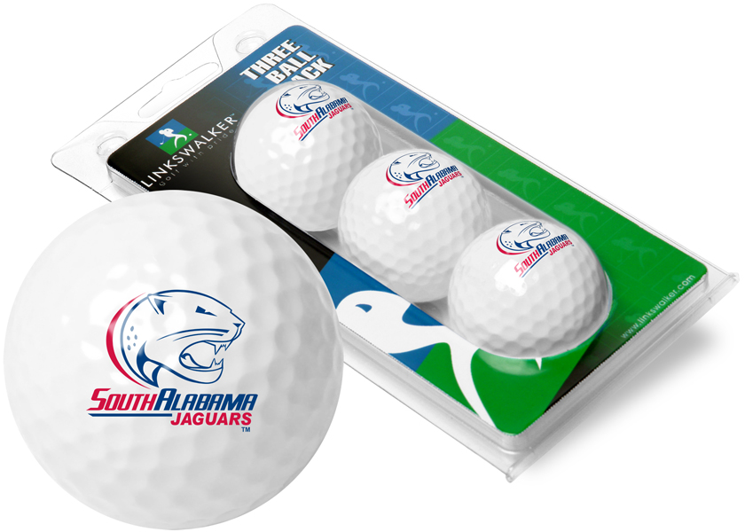 South Alabama Jaguars-3 Golf Ball Sleeve