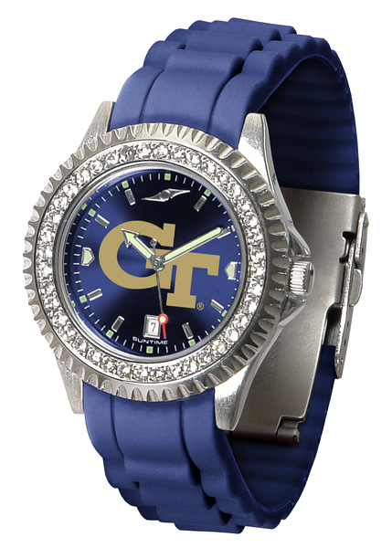 New - Ladies Georgia Tech Yellow Jackets-Sparkle Watch