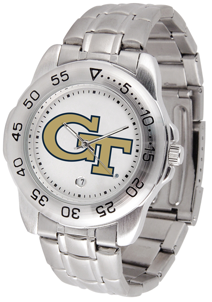 New - Mens Georgia Tech Yellow Jackets-Sport Steel