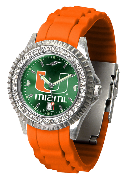 New - Ladies Miami Hurricanes-Sparkle Watch