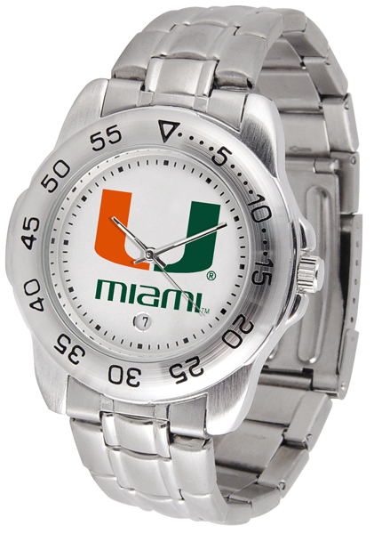New - Mens Miami Hurricanes-Sport Steel