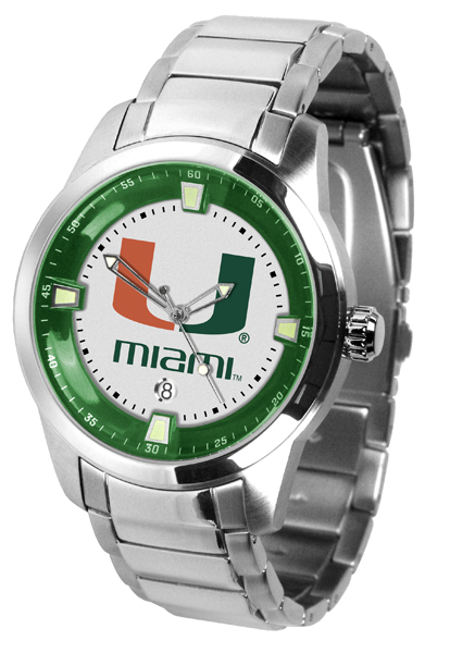 New - Mens Miami Hurricanes-Titan Steel