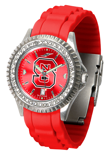 New - Ladies North Carolina State Wolfpack-Sparkle Watch